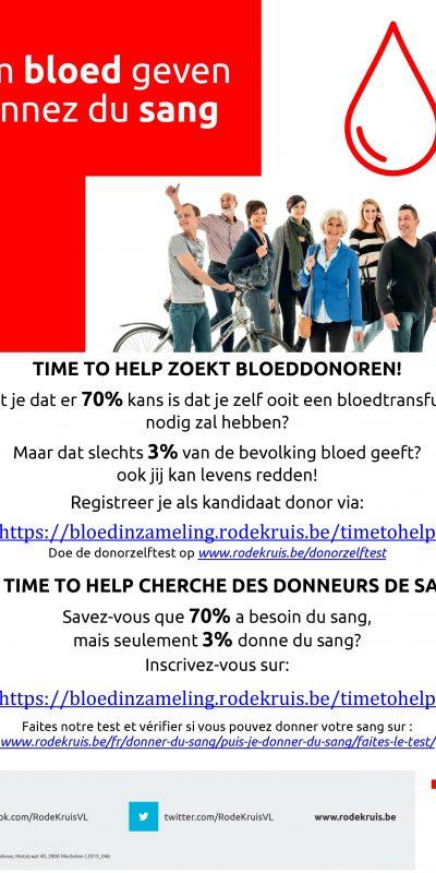 Timetohelp bloeddonoren